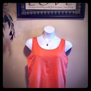 🧡SALE🧡 Gorgeous coral tank with white trim